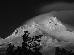 Timberline Black and White (palegreenstarz) Tags: mountain mthood timberline powershota95