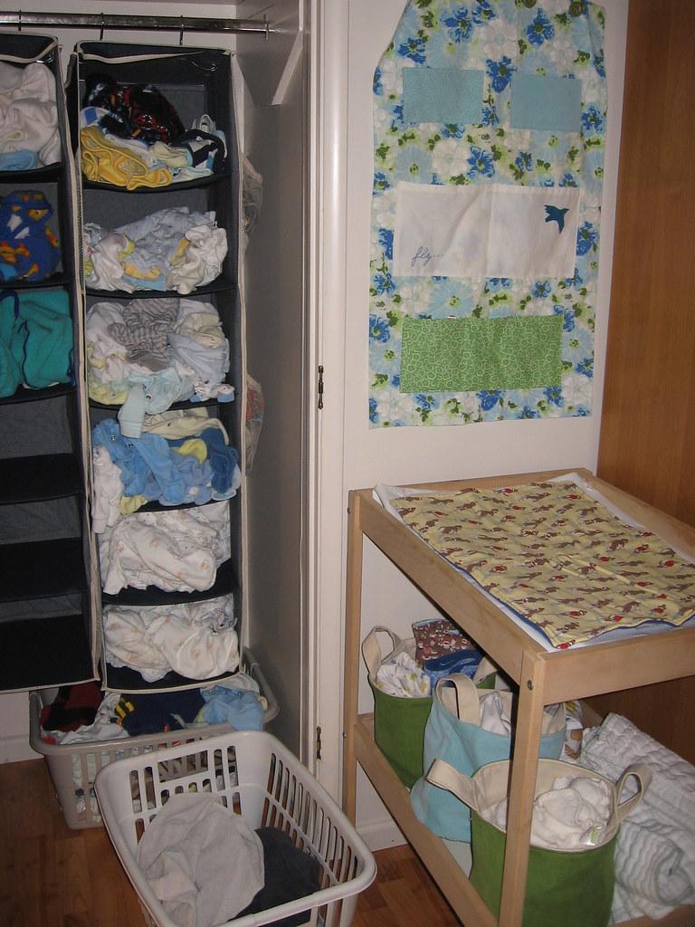 Baby changing corner