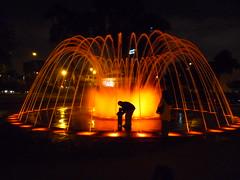 Circuito magico de Agua, Lima, Peru (AJoStone) Tags: family light peru water fountain night agua lima father son magico circuito