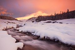 Mount Hood - Sunrise (Jesse Estes) Tags: snow oregon sunrise fresh whiteriver mounthood jesseestesphotography