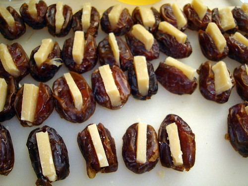 Dates Filled with Parmesan Cheese