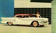 1958 Oldsmobile Ninety-Eight Holiday Coupe (aldenjewell) Tags: postcard 1958 oldsmobile ninetyeight holidaycoupe