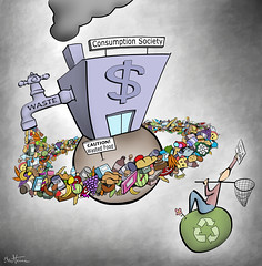 Consumption Society (Ben Heine) Tags: food money detail shop illustration youth copenhagen shopping denmark kyoto market space labor failure fastfood beverage tesco supermarket carrefour system business pollution exploitation caution revolution future dollar terre imagine change junkfood environment products needs waste capitalism recycle activism tomorrow bourse talks nourriture climate consumerism argent nestl mcdonald unemployment unilever produits consommation danone highres protocol dchets editorialcartoon planetearth freegan politicalart recyclage hypermarket besoin gaspillage syndicats multinationals purchasingpower kraftfoods consumptionsociety chmage freeganism cyberactivism hypermarch benheine pouvoirdachat capitalistmachine