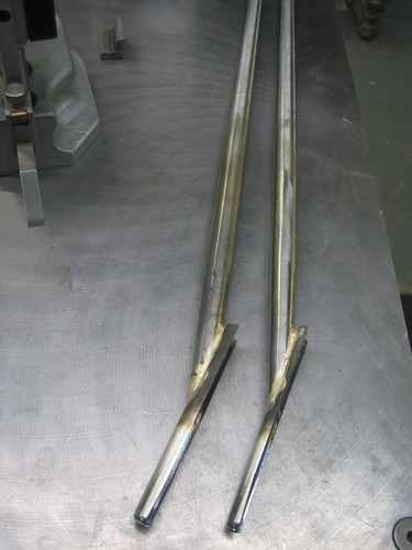 Stainless columbus metax caps after brazing