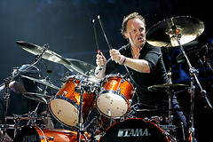 Lars Ulrich of Metallica performs at the 2008 Bonnaroo Music and (ArtStudio Magazine) Tags: manchester unitedstates tn metallica larsulrich