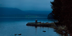 I've got the blues... (Joaaso) Tags: autumn panorama lake fall water oslo norway twilight europe moody catchycolours geography vann hst skumring innsj kjelss bltime canonef200mmf28liiusm canoneos450d stemningsfullt oslonovember adobelightroom2 oslodesember maridalenmaridalsvannet