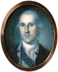 Charles Willson Peale's George Washington in 1776 at the age of 44