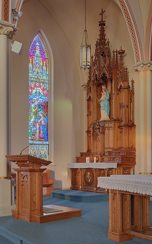 Saint Francis of Assisi Roman Catholic Church, in Aviston, Illinois, USA - altar of Mary