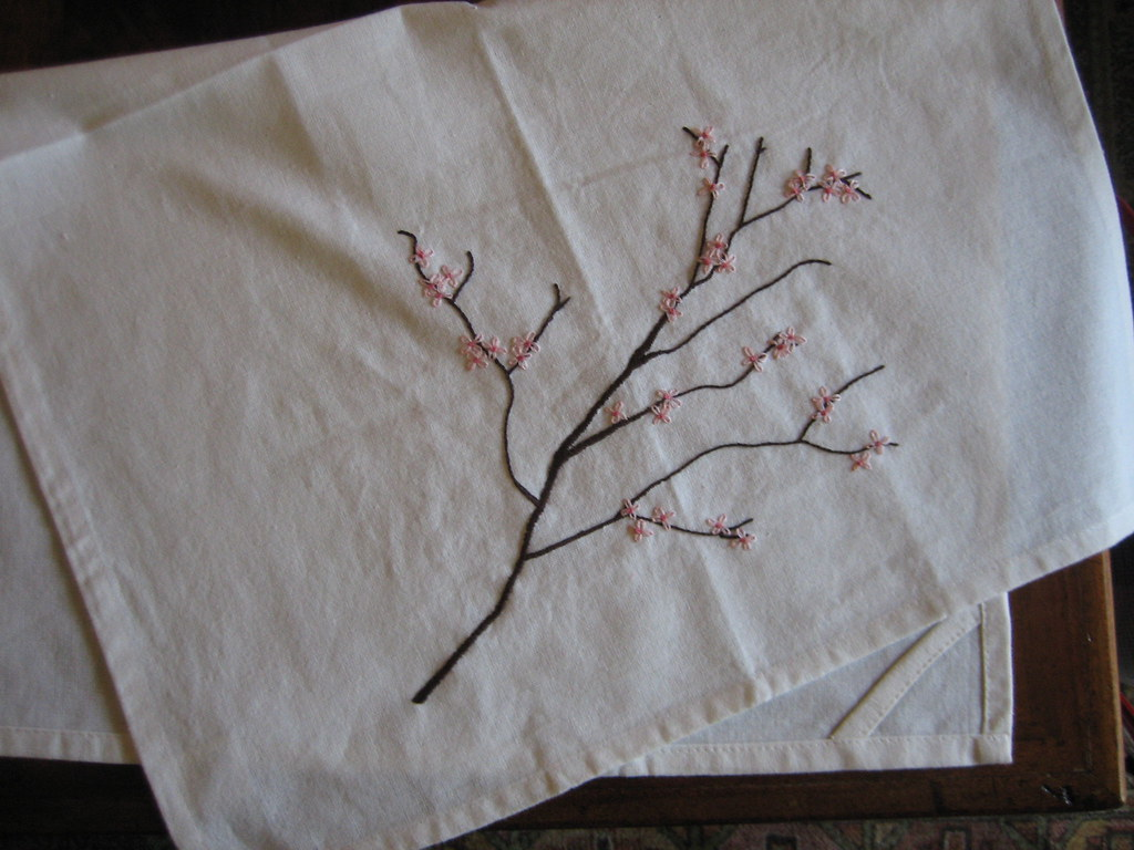 Embroidery: Cherry Blossoms