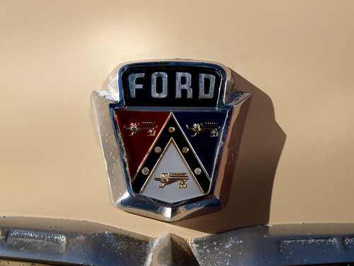 1954 Ford Customline  Boot Emblem