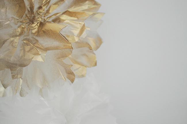 wax paper dahlia