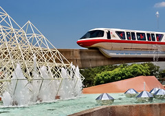 Daily Disney - Future World Monorail (Express Monorail) Tags: travel walter vacation usa fountain america wonder geotagged fun psp orlando epcot nikon florida availablelight magic dream wed elias disney mickey disneyworld fantasy mickeymouse imagine theme wish orangecounty monorail wdw waltdisneyworld walt magical kissimmee epcotcenter themepark waltdisney d300 futureworld wdi lakebuenavista imagineering baylake monorailred waltdisneyworldresort disneypictures disneyparks imaginationpavilion disneypics expressmonorail disneyphotos paintshopprophotox2 joepenniston disneyphotography disneyimages epcotmonorailloop waltdisneyworldmonorailsystem geo:lat=28372813 geo:lon=81550837
