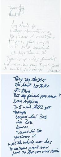 Michael Jackson letters