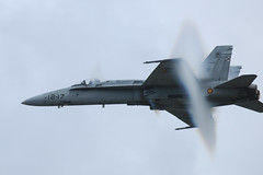 McDonnell Douglas F/A-18 Hornet. (stonefaction) Tags: cloud plane spain force aircraft air spanish hornet 2009 vapour vapor raf fairford faved riat shockwave ef18