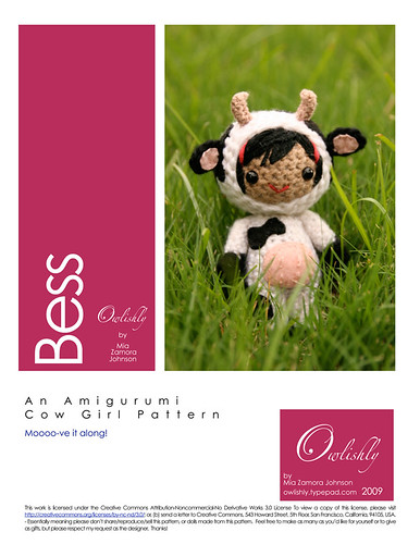 Finally, Bess the cow pattern is ready!