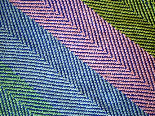 Handwoven Placemat, Twill Weave (2)