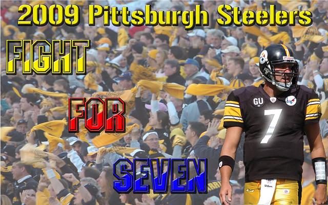 steeler wallpaper. The wallpaper features Steelers quarterback Ben Roethlisberger,