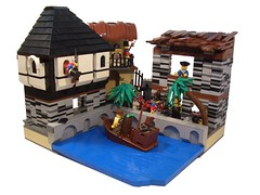 Imperial City (NewRight) Tags: city century port soldier boat town lego vessel pirate merchant 17th civilian imerial
