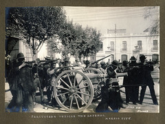 Practicing outside the arsenal, Mexico City (SMU Central University Libraries) Tags: mxico mexico revolution cannon artillery mexique 1913 ciudaddemxico mexicanrevolution revolucinmexicana