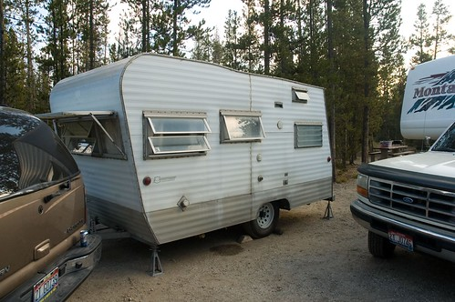 The little camper we stayed in. Denny grew up camping in this trailer.