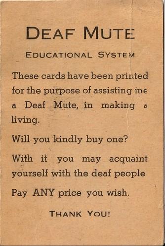 deaf mute card
