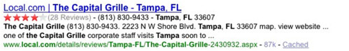 The Capital Grille Tampa FL Enhanced Results