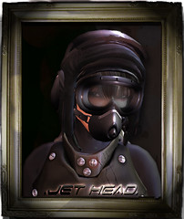 Jet-Head (pitch black) (Hat Mechanic) Tags: helmet pilot jetgirl hatmechanic fadedana