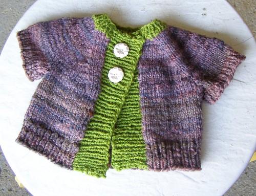baby eggplant sweater