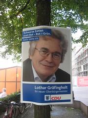 Wahlplakat: Lothar Gräfingholt (CDU)