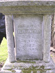 Close-up of inscription of Elizabeth Pryor. ~photo Anna Passante