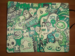 Travelling Moleskine! (WOTTO*) Tags: green illustration drawing culture www sketchbook doodle bones whatever characters monsters vulture beasts characterdesign wotto thebigdraw travelingmoleskin travellingmoleskin sturbanclothing