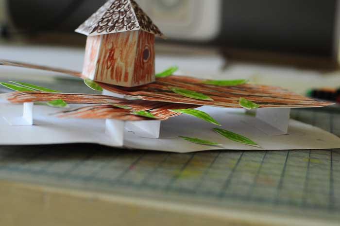 birdhouse pop-up card prototype 3