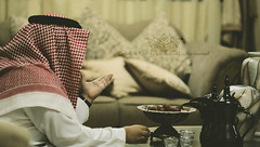 "\   "" (Q333"" ) Tags: man coffee saudi tribe dates khalid snf the  bani egal"