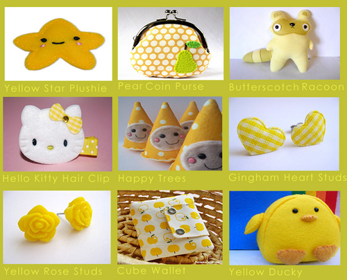 Etsy Finds: Kawaii Cute Yellow