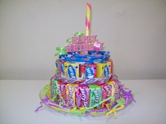 Birthday Cake (Candy Bouquet) Tags: birthday cake happy candy chocolate nerds gift present bouquet taffy