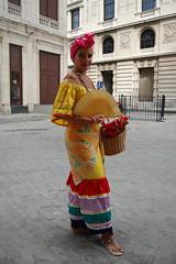 Woman in traditional Cuban costume (robseye76) Tags: vacation woman holiday costume outfit traditional havana cuba cuban kuba wakacje