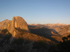 half dome (Sean Munson) Tags: california sunset landscape nationalpark day dusk unescoworldheritagesite worldheritagesite clear yosemite halfdome yosemitenationalpark glacierpoint