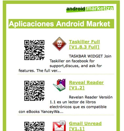Android Market aplicaciones nuevas