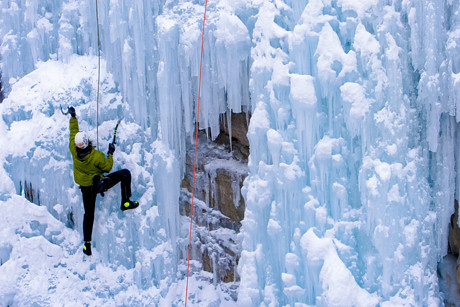 Ice Climbing by Visit Colorado.