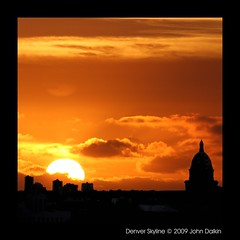 Denver skyline (Heaven`s Gate (John)) Tags: travel sunset vacation usa topf25 silhouette skyline colorado denver dome milehighcity denverskyline 25faves johndalkin heavensgatejohn alemdagqualityonlyclub