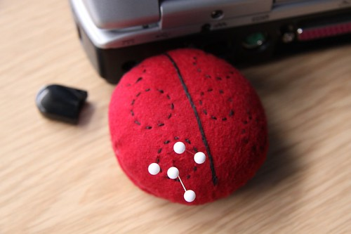 Ladybird USB pincushion PC