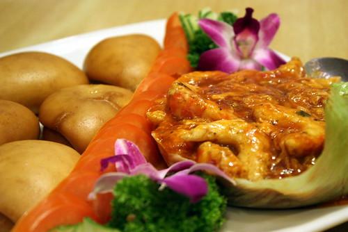 Yishensu Sweet & Sour Prawn with Deep Fried Buns