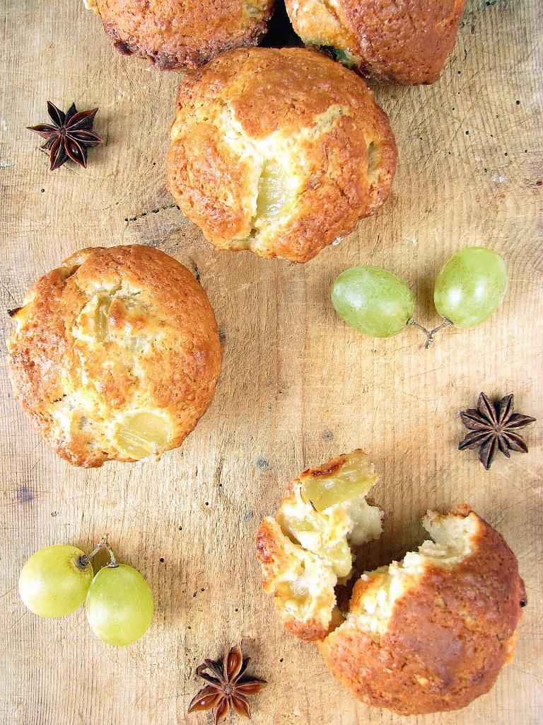 Muffins all'uva