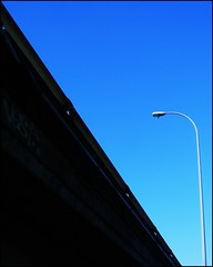 October Sky (AnneMcDonald) Tags: bridge sunshine blueskies linescurves differentpointofview