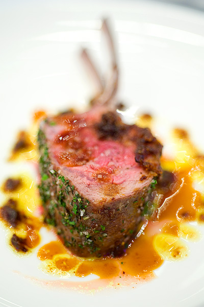 Chef David Kinch's Rack of lamb with exotic spices, Four Seasons Bangkok's World Gourmet Festival