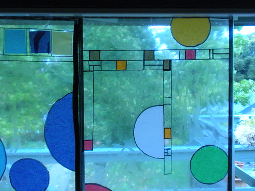 close up of As design on the window