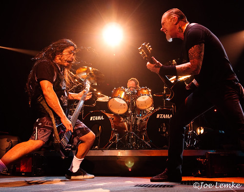 Robert Turjillo, Lars Ulrich, James Hetfield (by Joe Lemke)