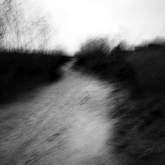 (blinked) Tags: blackandwhite square sand path motionblur kinetic 1020mm desolate icm