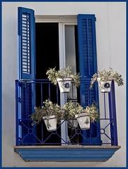 Four out of Five ain't Bad (hogsvilleBrit) Tags: blue windows window shutters sitges flowerpots sitges09