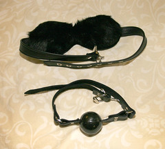 Mask and Ball (mistress rita) Tags: eyemask ballgag